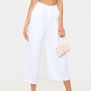 Pretty Little Thing White Culottes NWT | Size 12